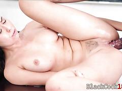 Student Melissa Moore fucks by her black teacher's big cock