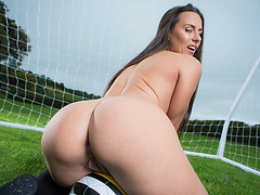 Athletic Amirah and Mea in an intense outdoor ass fucking action