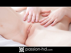Abi Grace gets her shaved pussy pounded