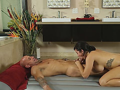 This massage ends in a cock sucking