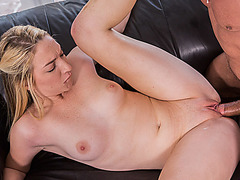Blonde hot babe Shane Blair having her pussy banged