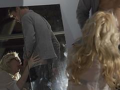 American beauty Samantha Rone in an intense rule breaking office sex