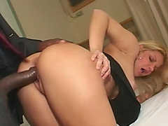 Slutty Blonde Latina Fucked Hard By Big Black Cock