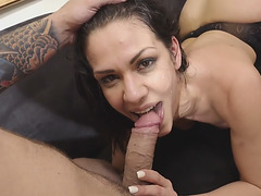 Horny cougar Samia Duarte Fucked with Stepson