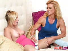 Big Vibrator for that teen pussy went to work
