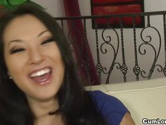 Asian Babe Asa Akira fucked after dirty questions