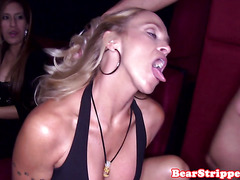CFNM newbies cocksucking in group at real party