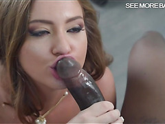 Sexy Maddy Oreilly in stockings pounded by big black cock