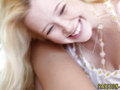 Teen blondies share cock