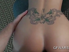 Petite blonde humping a cock of her desire