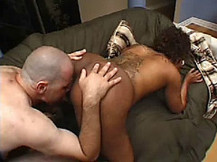 Pregnant ebony enjoys a good doggystyle fuck
