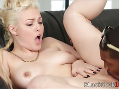 Blondie Jenna Ivory banged by black dude on the couch
