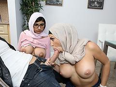 Hot teen Mia boyfriend gets seduced by the slutty stepmom Juliana