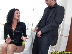 Horny piss lover cummed