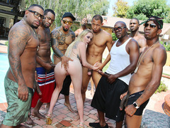 Iris Rose Gets Gangbanged By Many BBC