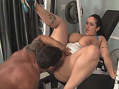 BBW Carmella gets fucked before working out