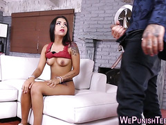 Teen gets bdsm pounded