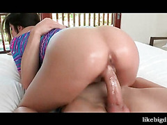 Lustful college doll pumped from behind
