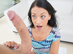 Kelly gets a big hard dick in her mouth
