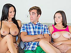Stepmom Ava Addmas hot threesome action