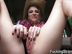 Stranded Dillion Carter flirts with the driver and fucked