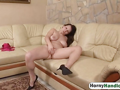 Chubby Girl Fingers Pussy And Fucks Handicapped Guy In Cowgirl Position