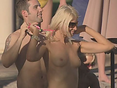 Hardcore orgy at the playboy mansion pool