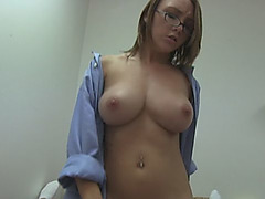 College Girl With Hot Tits Passionately Rides Boyfriend's Dick