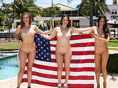 Lovely best friends gets fucked hard on the fourth of july