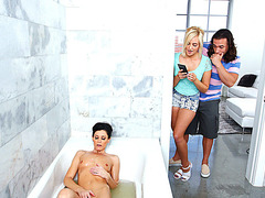 MILF India busts teen Kate sneaking on her while she masturbates