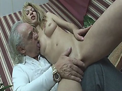 Horny One Armed Guy Fucks Young Blonde Slut