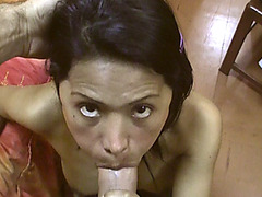 Babe Latina prostitute sucks and gets slammed from behind
