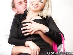 Blonde cfnm whore spunked