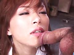 Keito Miyazawa takes good care of two large cocks