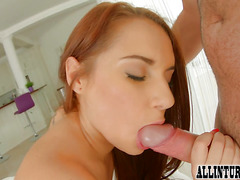 Creampie play for redhead Jenny Glam