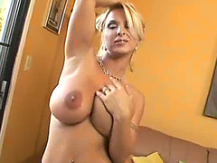 Big titted blonde Holy Halston gets boobs groped and pussy slayed