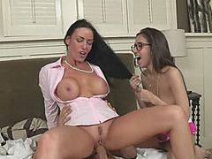 April Oneil and Vanilla Deville shared a hard man meat