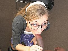 School girl blonde teen Emma Haize likes to be perky