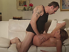 Super horny dude fucks the innocence out of young Leah Gotti