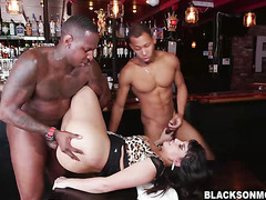 Mercedes Carrera got tag teamed by black guys