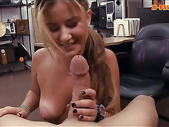 Lovely amateur blonde waitress screwed at the pawnshop