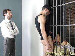 Eyes black inmate cum