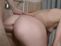 Russian girl 18 years old and penis in her ass