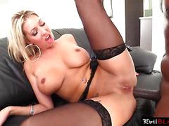 Stunning blonde porn star finally loving black big dick