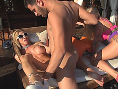 Wild sluts suck hard dicks and get their pussies banged mercilessly
