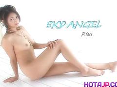 Risa Murakami in hot lingerie gets cumshot