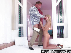 AdultMemberZone  Sweet Russian Cutie Sasha Rose Gets Her Face Fucked