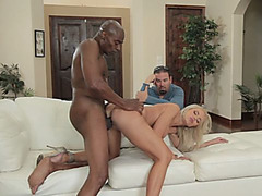 Can you believe how hot this MILF is? She bangs this black man and she loves it