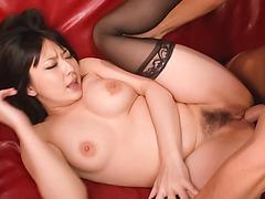Megumi Haruka, sweet Asian, takes on a big cock