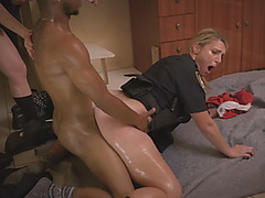 Black guy fucking threesome female cops interracial